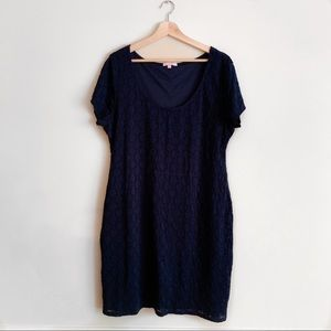 Isaac Mizrahi blue mini dress | size XXL